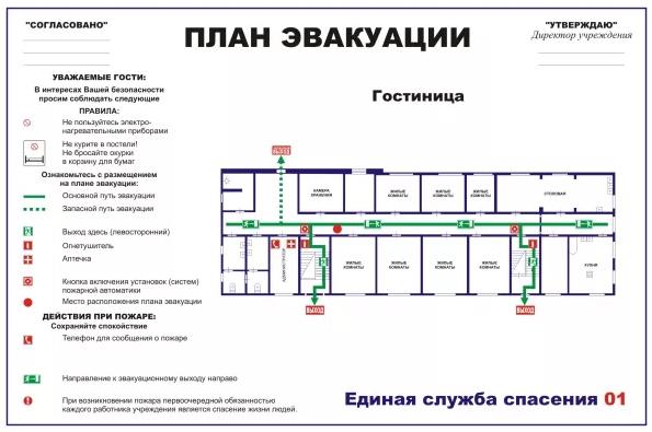 локальный план эвакуации образец